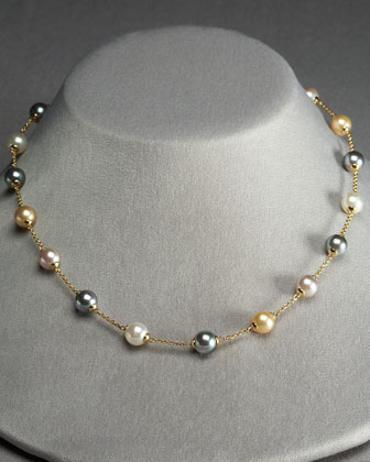 Mixed Pearl Illusion Necklace