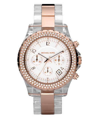 Two-Tone Crystal Watch