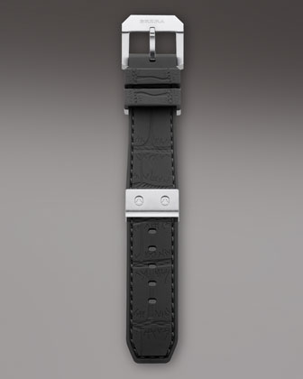 Black Rubber Strap, 22mm