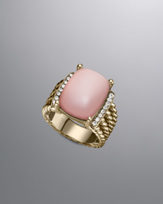 Wheaton Ring, Pink Chalcedony, 16x12mm