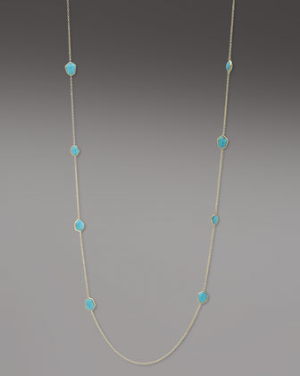 Faceted Turquoise Necklace, 36