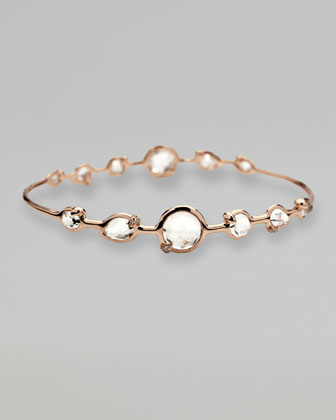 Rose Clear Quartz Bangle