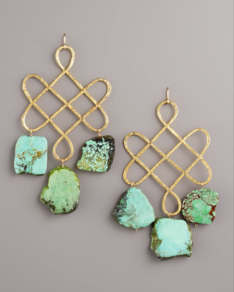 Knotted Turquoise Earrings