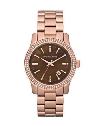 Mid-Size Runway Watch, Rose Golden