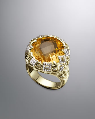 Tapestry Ring, Champagne Citrine
