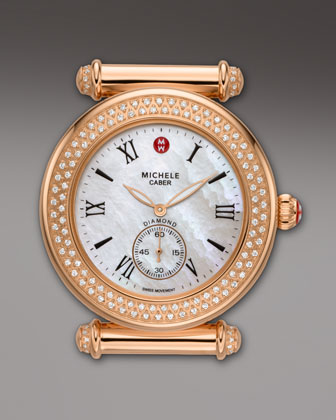 Caber Diamond Watch Head, Rose Gold