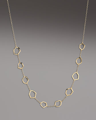 Gold Frame-Station Necklace