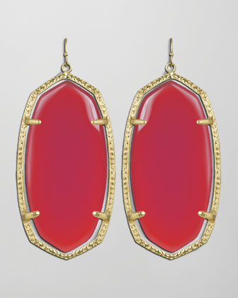 Danielle Earrings, Pink Agate