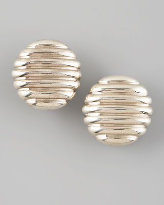 Rippled Oval Earrings