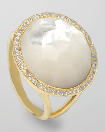 Lollipop Ring, Mother-of-Pearl