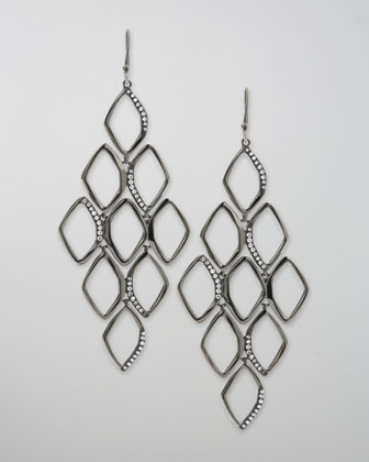 Pave Diamond Cascade Earrings