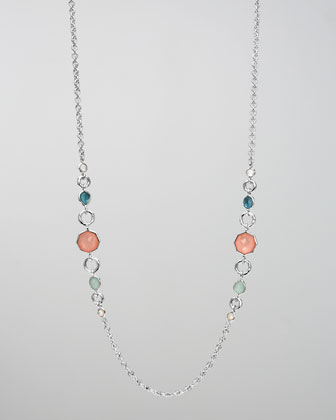 Wonderland Two-Station Necklace, Breeze