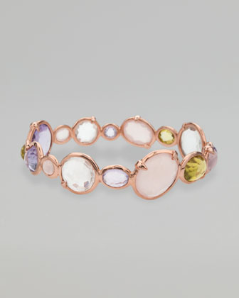Rose Gold Hero Bangle, Orchid
