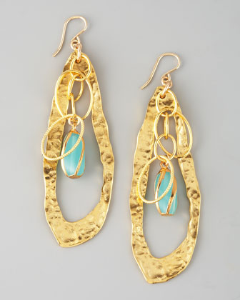 Twisted Chalcedony Drop Earrings