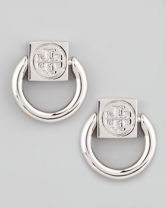Varden Door-Knocker Earrings, Silver