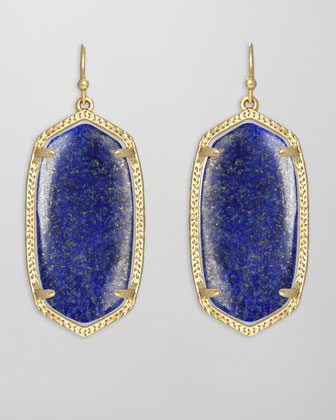 Elle Earrings, Lapis
