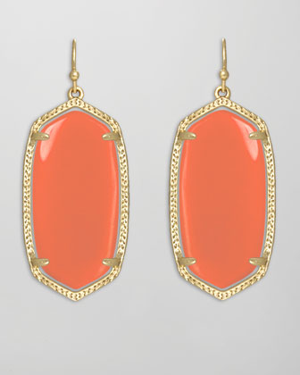 Elle Earrings, Salmon