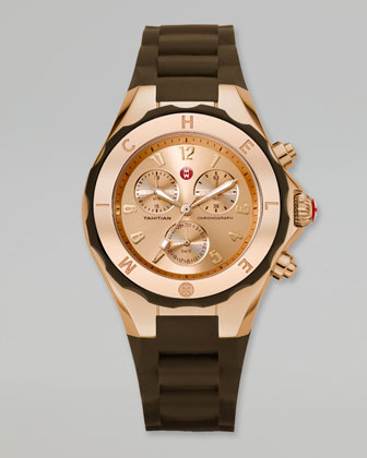 Tahitian Large Jelly Bean Rose Golden Chronograph, Brown
