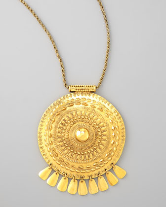 Medallion Pendant Necklace
