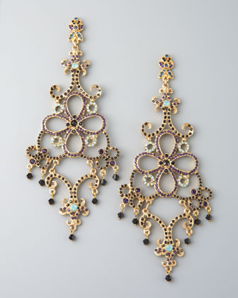 Floral Multi-Stone Earrings