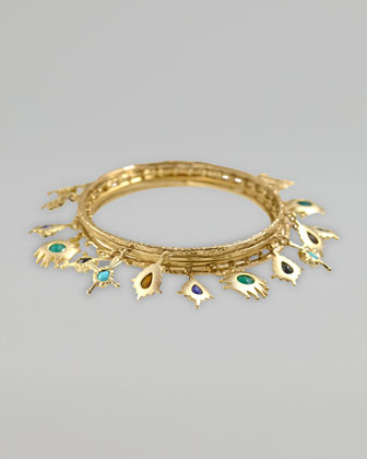 Bracken Charm Bangle Set