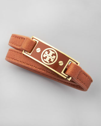 Logo Wrap Bracelet, Brown