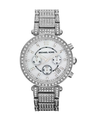 Pave Crystal Parker Watch