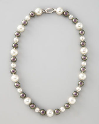White/Tahitian Pearl Necklace