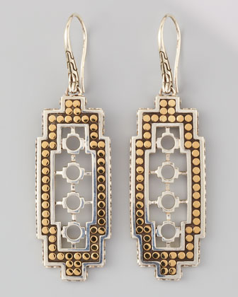 Dot Cutout Drop Earrings
