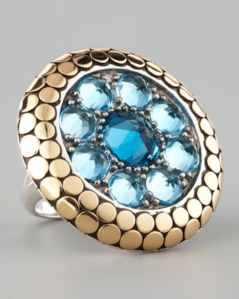 Dot Round Topaz Ring