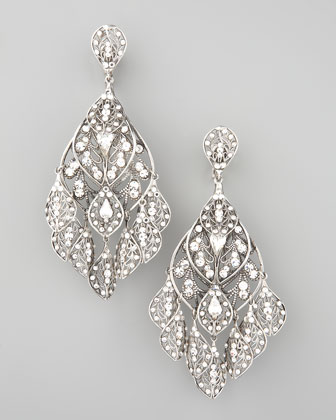 Feather Crystal Earrings