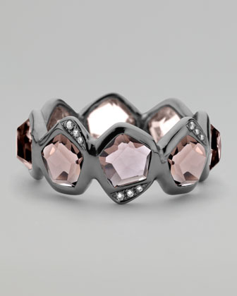 Pave Diamond Smoky Quartz Ring