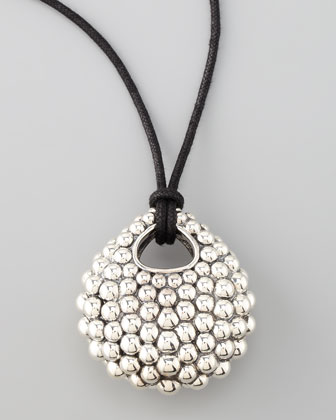 Bold Caviar Pendant Necklace, Large
