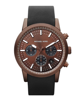 Espresso Stainless Steel Runway Chronograph Watch