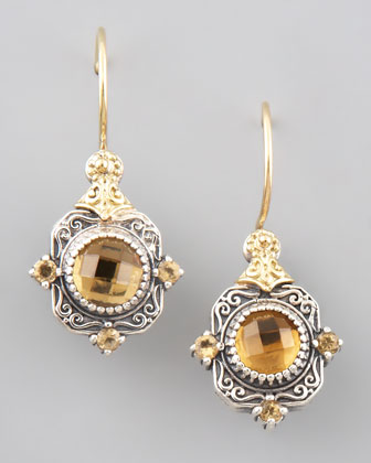 Ilios Cognac Drop Earrings