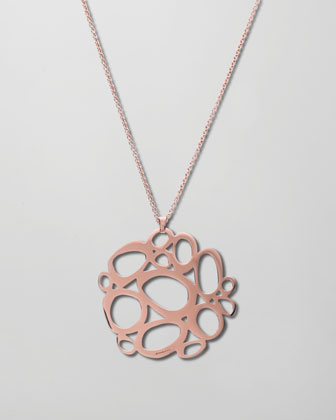 Rose Gold Mosaico Pendant Necklace