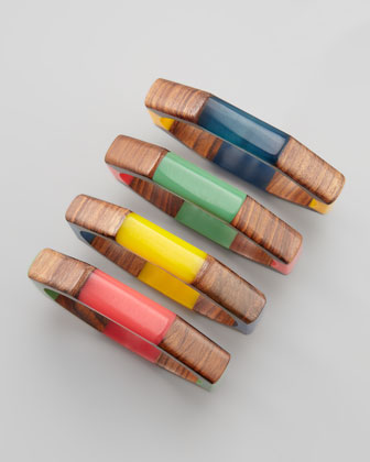 Wooden Bangles, Set of Four