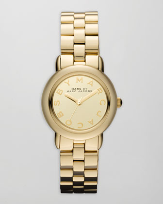 Marci 3H Analog Watch, Yellow Golden