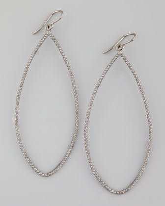 Sparkle Marquise Earrings, Charcoal