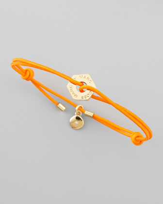 Logo-Detailed Bracelets, Fluoro Orange