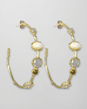 Heather Hoop Earrings, Pearlescent