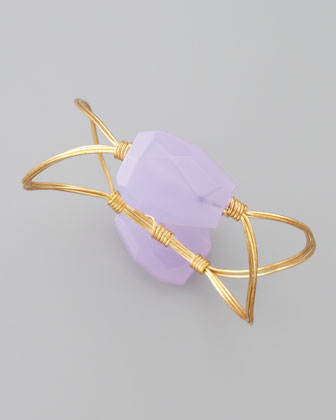 Elliptical Bangle, Amethyst