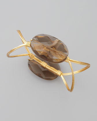 Elliptical Bangle, Smoky Quartz