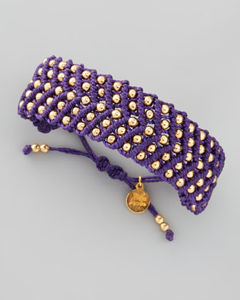 Beaded Friendship Bracelet, Purple