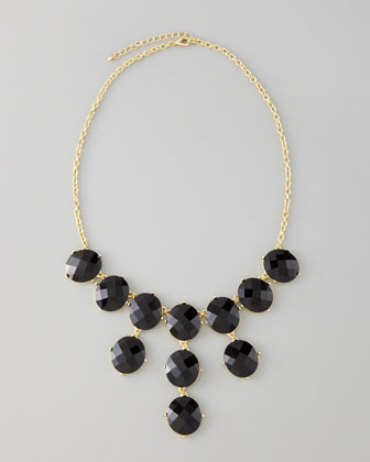 Bubble Bib Necklace, Black