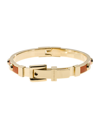 Astor Stud Buckle Bangle, Golden/Orange