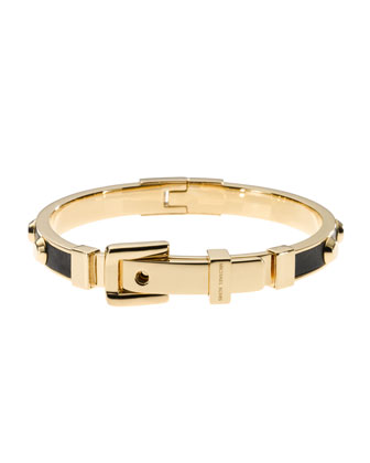 Astor Stud Buckle Bangle, Golden/Black