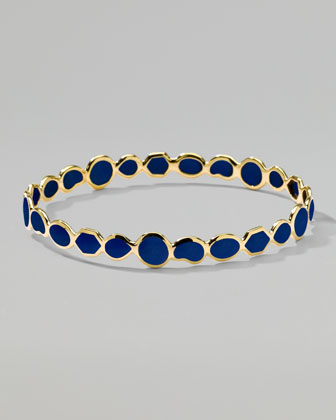 Polished Rock Candy Bangle, Lapis