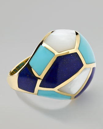 Polished Rock Candy Multi-Stone Mosaic Dome Ring