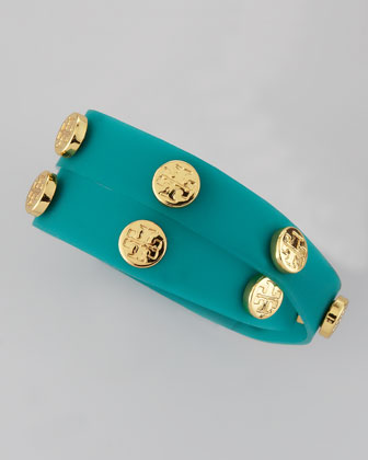 Logo-Studded Jelly Wrap Bracelet